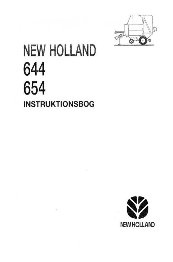 New Holland 644 654 Operator S Manual