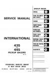 Case IH 435, 445 Service Manual
