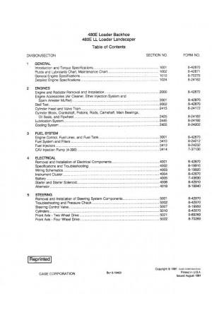 Case 480E, 480ELL Service Manual