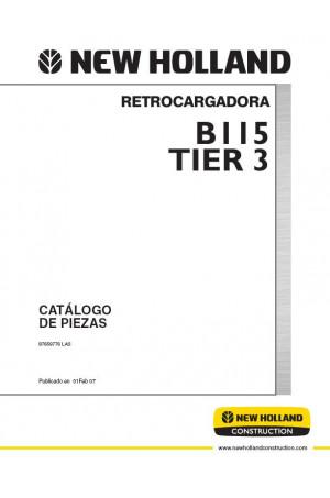 New Holland CE B115 Parts Catalog
