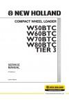 New Holland CE W50BTC, W60BTC, W70BTC, W80BTC Service Manual