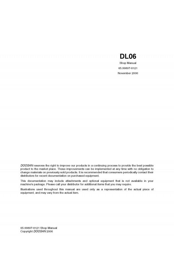 Daewoo Doosan ENGINE - DL06 Service Manual