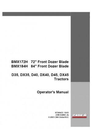 Case IH BMX172H, BMX184H Operator`s Manual