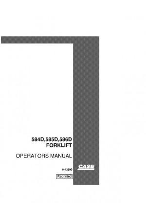 Case 584D, 585D, 586D Operator`s Manual