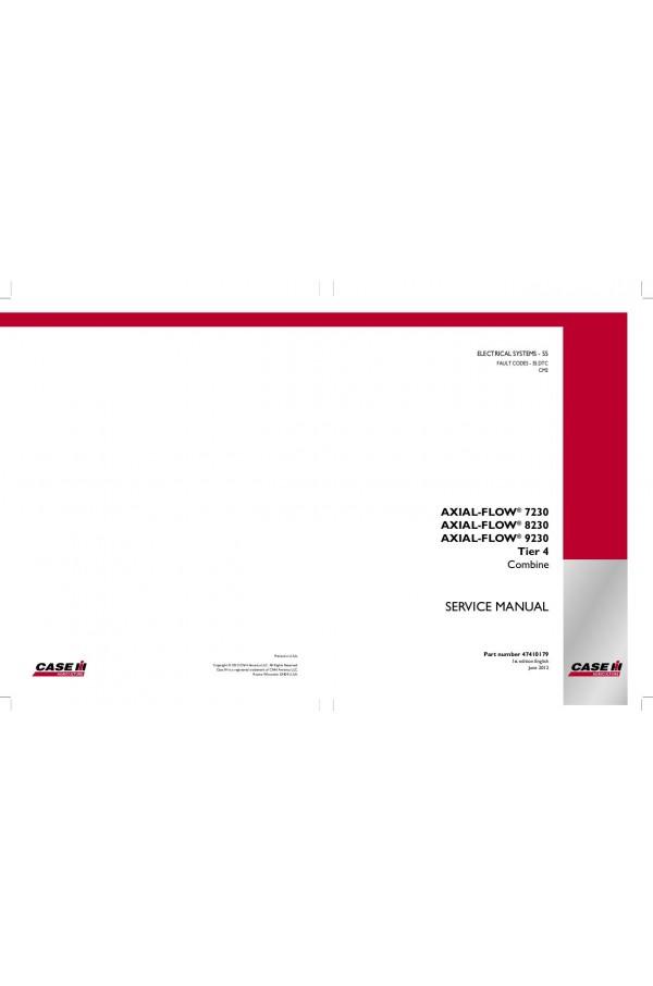 Case IH Axial-Flow 7230, Axial-Flow 8230, Axial-Flow 9230 Service ManualHeavyManuals.com