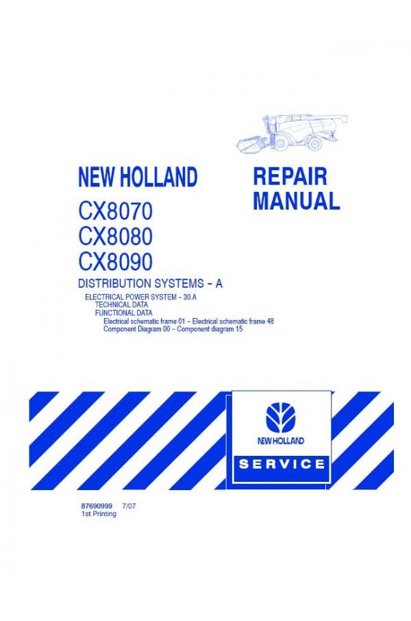 New Holland CX8070, CX8080, CX8090 Service Manual on