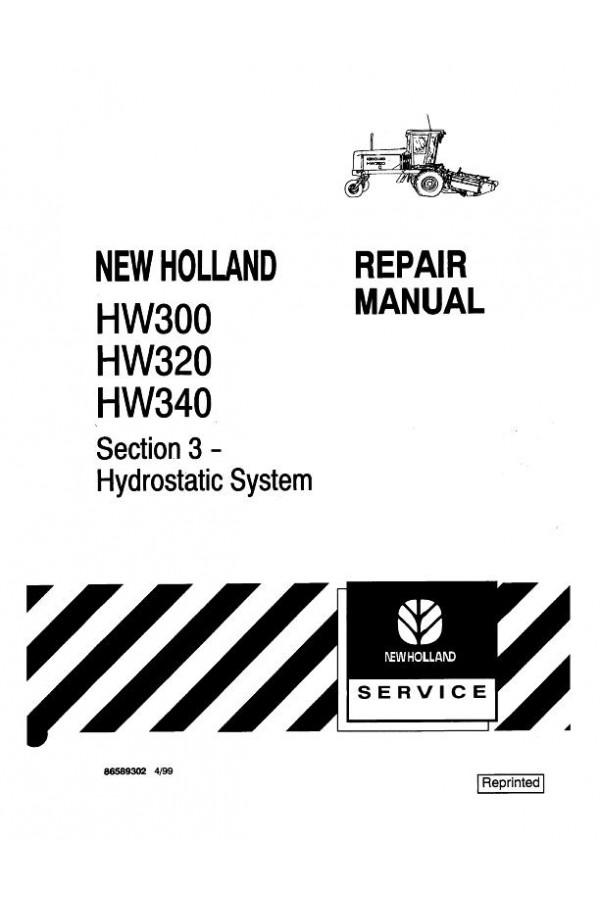 New Holland HW300, HW320, HW340 Service Manual on