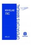 New Holland 73C Operator`s Manual
