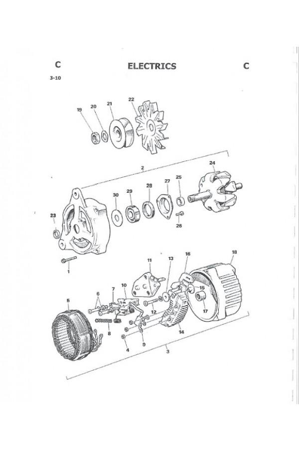 JCB 2D 2DS 3 3C 3CS 3D 700 Backhoe Service Manual