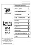 JCB 801.4, 801.5, 801.6 Service Manual