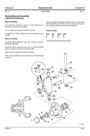 JCB 3CX, 4CX, 214e, 214, 215, 217 & VARIANTS Service Manual