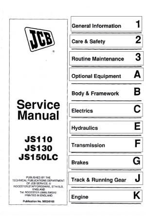 JCB JS110/130/150R3 Service Manual