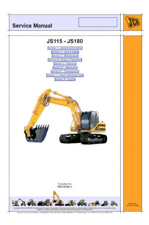 JCB JS115-JS180 Tier 2 Service Manual