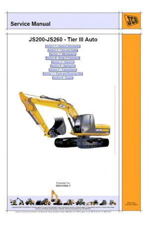 JCB JS200-260 Isuzu Tier 3 Service Manual