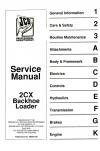 JCB 2CX Backhoe Loaders Service Manual