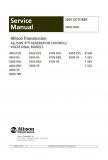 Allison Transmission 4000 Series Vocational Models 4000EVS, 4000HS, 4000MH, 4000RDS, 4000SP, 4000TRV, 4500EVS, 4500HS, 4500RDS, 4500SP, 4700EVS, 4700RDS, 4700SP, 4800EVS, 4800SP, B500, T425, T450, T525 Service Manual
