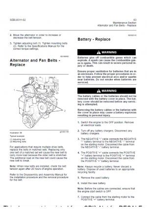 Perkins 402D - 403D - 404D Operation and Maintenance Part Number SEBU8311-01 January 2010 Service Manual