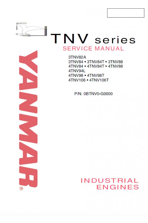 Yanmar Yanmar 3tn 4tn P/n OBTNV0-G0000 Service Manual