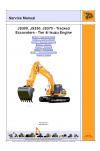 JCB JS300, 330, 370 Tier 4i Isuzu Engine Service Manual