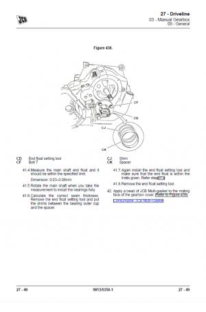 JCB 10TFT Powershift, 9TFT Powershift Service Manual