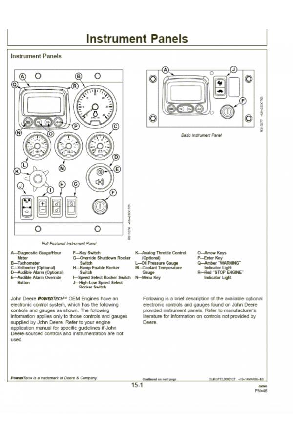 John Deere Deutz PowerTech E 4 5 and 6 8 L 4045 and 6068