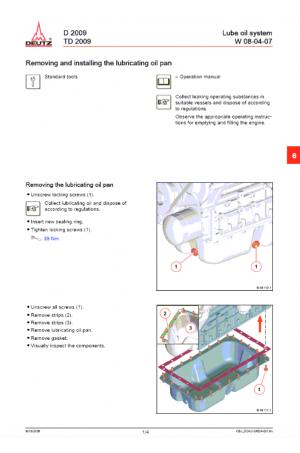 Deutz Deutz Wheel Loaders Tier 3 Stage III-A DTD2009 Operator's and Maintenance Manual