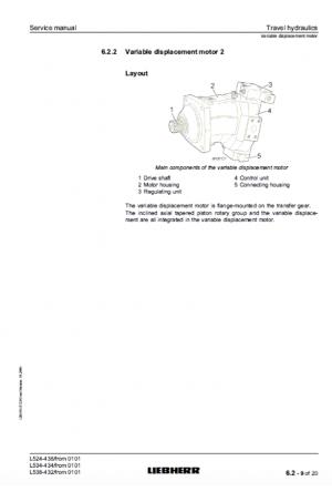 Liebherr L524, L534, L538 Tier 2 Stage II Service Manual