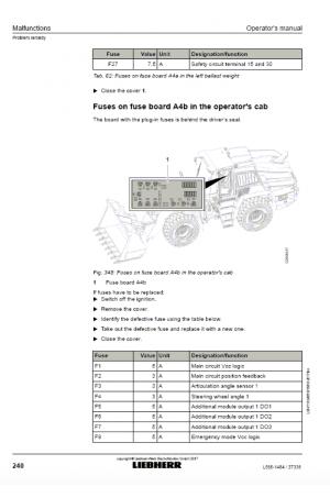 Liebherr Liebherr L566-1484 Wheel Loader Tier 4f Stage IV Operator's and Maintenance Manual