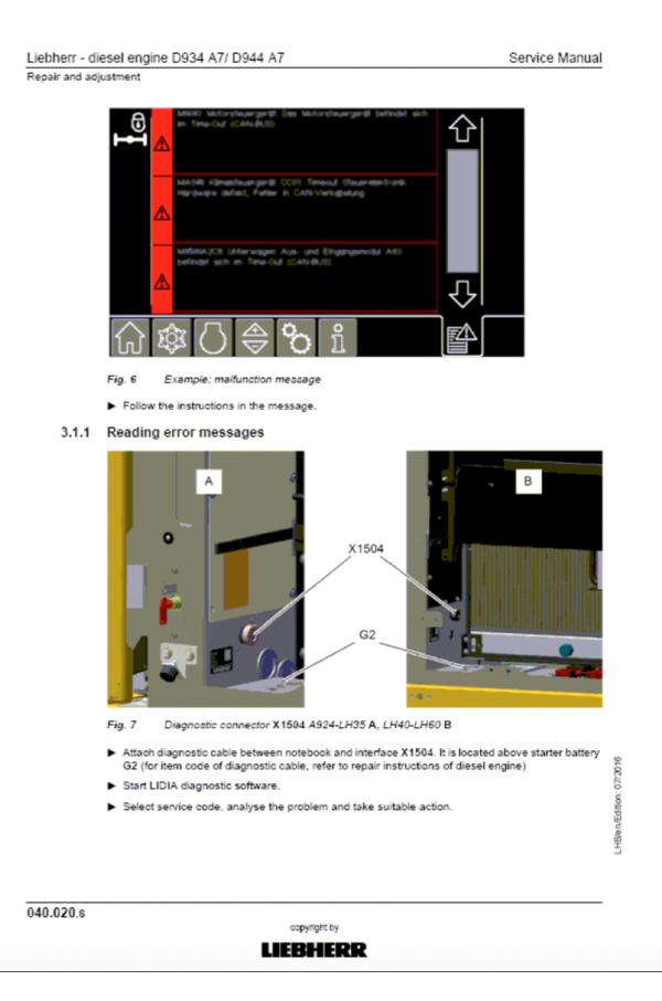 Liebherr A914-A924 Hydraulic Excavator Tier 4f Stage IV Service Manual