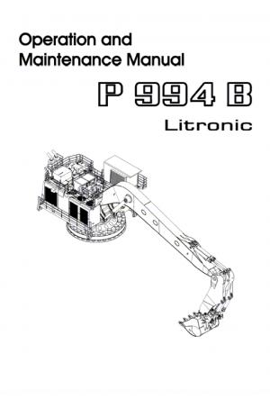 Liebherr Liebherr P994B Excavator Operation and Maintenance Manual