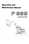 Liebherr Liebherr P995 Excavator Operation and Maintenance Manual