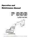 Liebherr Liebherr P996 Excavator Operator's and Maintenance Manual