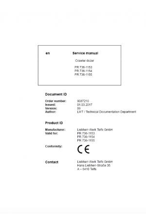 Liebherr LR611-641 Crawler Loaders Service Manual