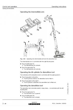 Liebherr Liebherr R974C Hydraulic Excavator Tier 3 Stage III-A Operator's and Maintenance Manual