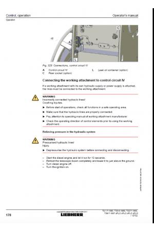 Liebherr Liebherr T35-6 Tier 4f Stufe IV Operator's and Maintenance Manual