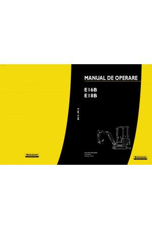 New Holland CE E16B, E18B Operator`s Manual