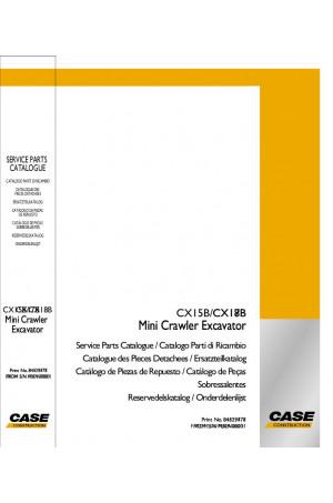 Case CX15B, CX18B Parts Catalog