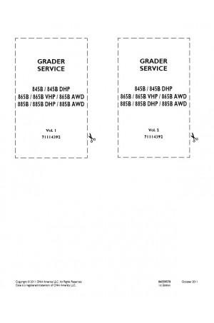 Case 845B, 865B, 885B Service Manual