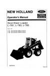 New Holland CE L781, L783, L785 Operator`s Manual