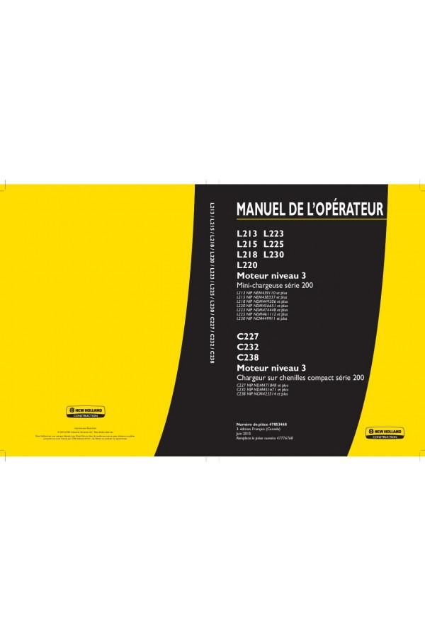new holland c238 manual