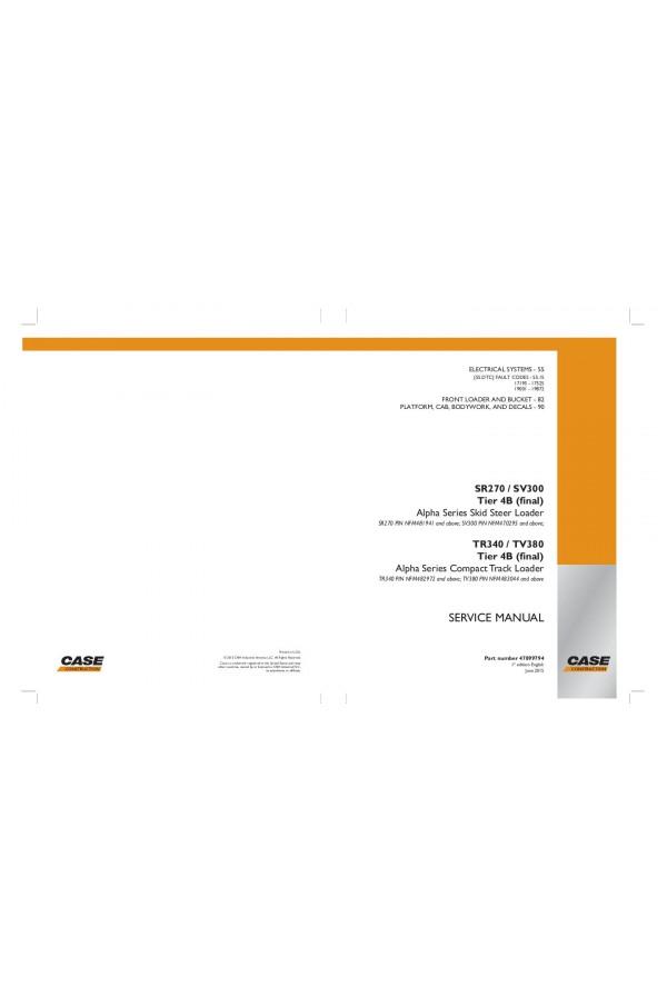 case sr210 sr240 sv280 tr270 tr310 service manual rh heavymanuals com case tr270 repair manual Case TR270 Review