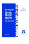 New Holland TD75D, TD95D Operator`s Manual