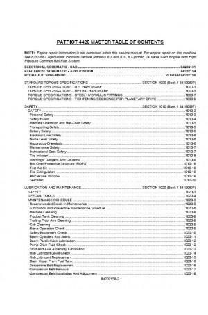 Case IH Patriot 4420 Service Manual