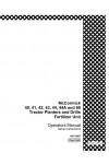 Case IH 40, 41, 42, 43, 44, 44A, 60 Operator`s Manual