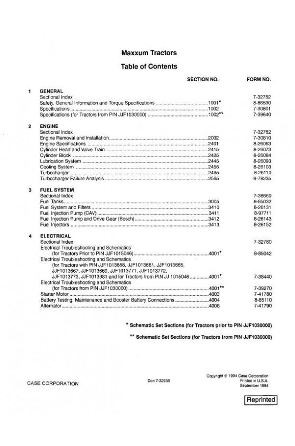 case ih 5250 service manual