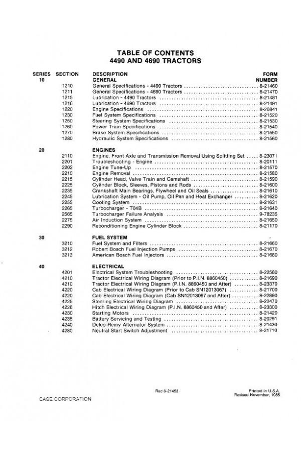 Case Ih 4490  4690 Service Manual