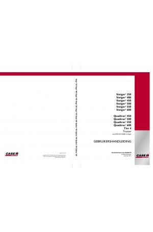 Case IH Quadtrac 450, Quadtrac 500, Quadtrac 550, Quadtrac 600, Steiger 350, Steiger 400, Steiger 450, Steiger 500, Steiger 550, Steiger 600 Operator`s Manual