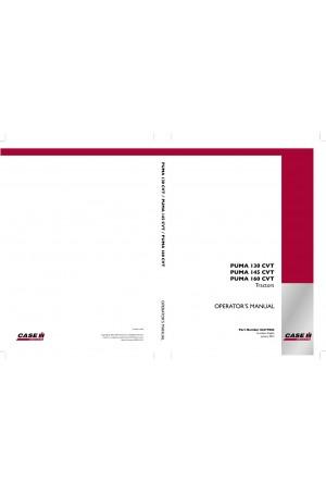 Case IH Puma 130, Puma 145, Puma 160 Operator`s Manual