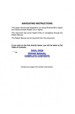 Case IH DX23, DX26 Service Manual