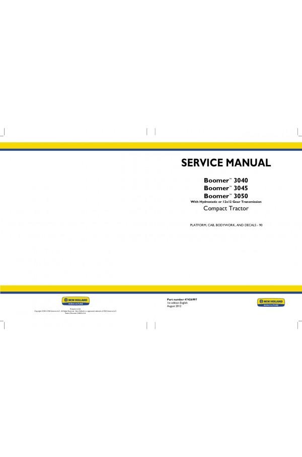 New Holland Boomer 3040, Boomer 3045, Boomer 3050 Service Manual